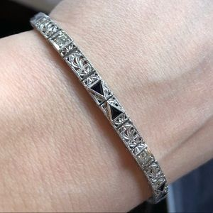 Jewelry - Art Deco Diamond and Sapphire bracelet